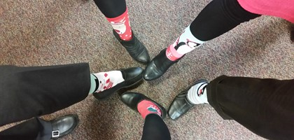 Christmas Socks @ Central Office