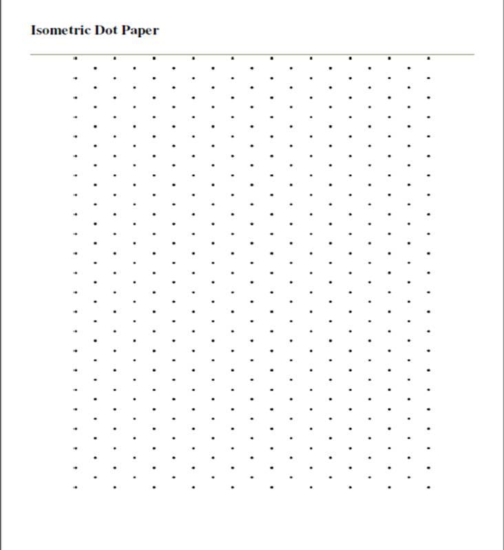Isometric Dot Grid Paper | Car Interior Design